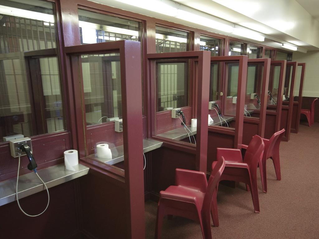 A prison visiting center