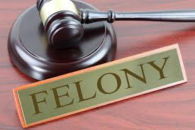 """A name tag that says """"Felony"""""""
