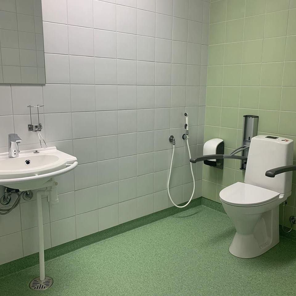sairaalan esteetön wc - LVI-palvelut