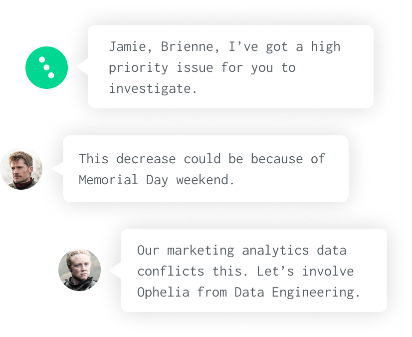 Soda brings people together in a workflow to solve data issues.