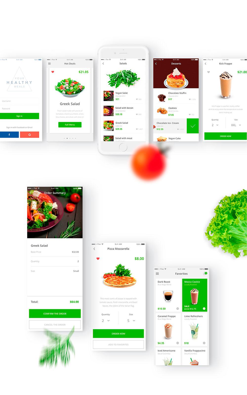 iOS app para pedidos de comida por Factorial Complexity y Vikes Kolomiets