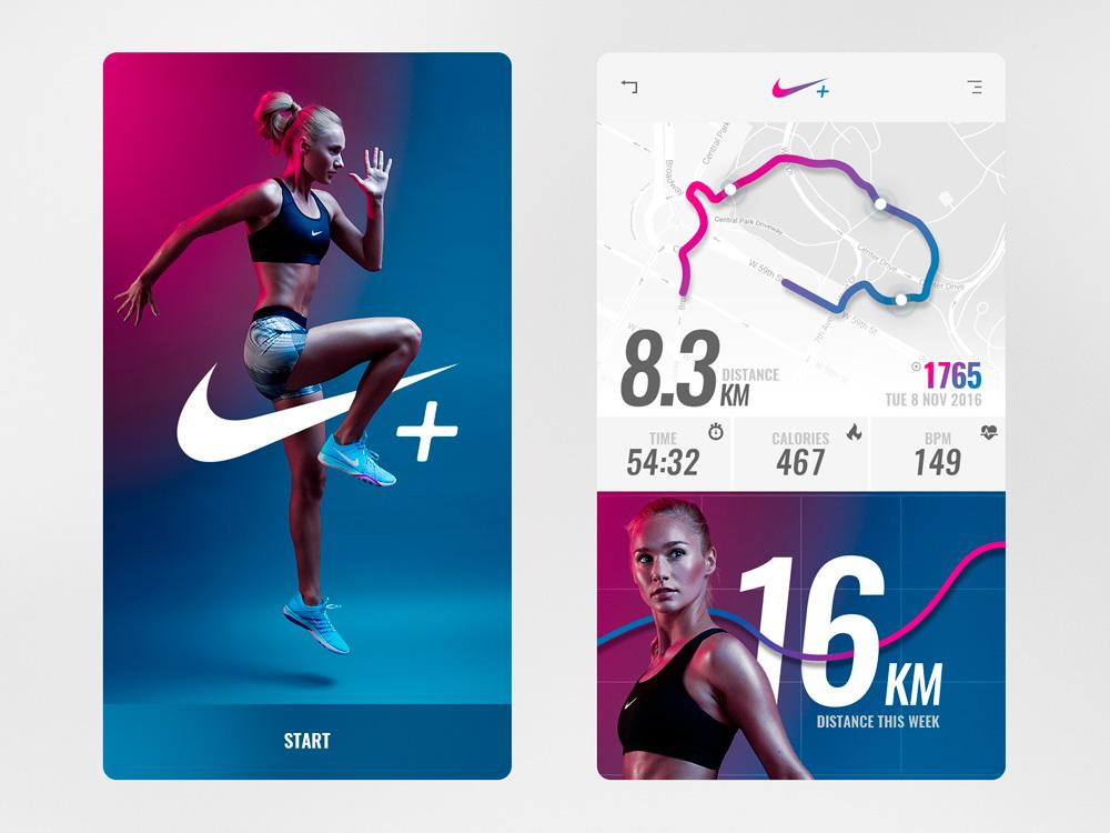 Nike+ running app concept por Samuel Scalzo