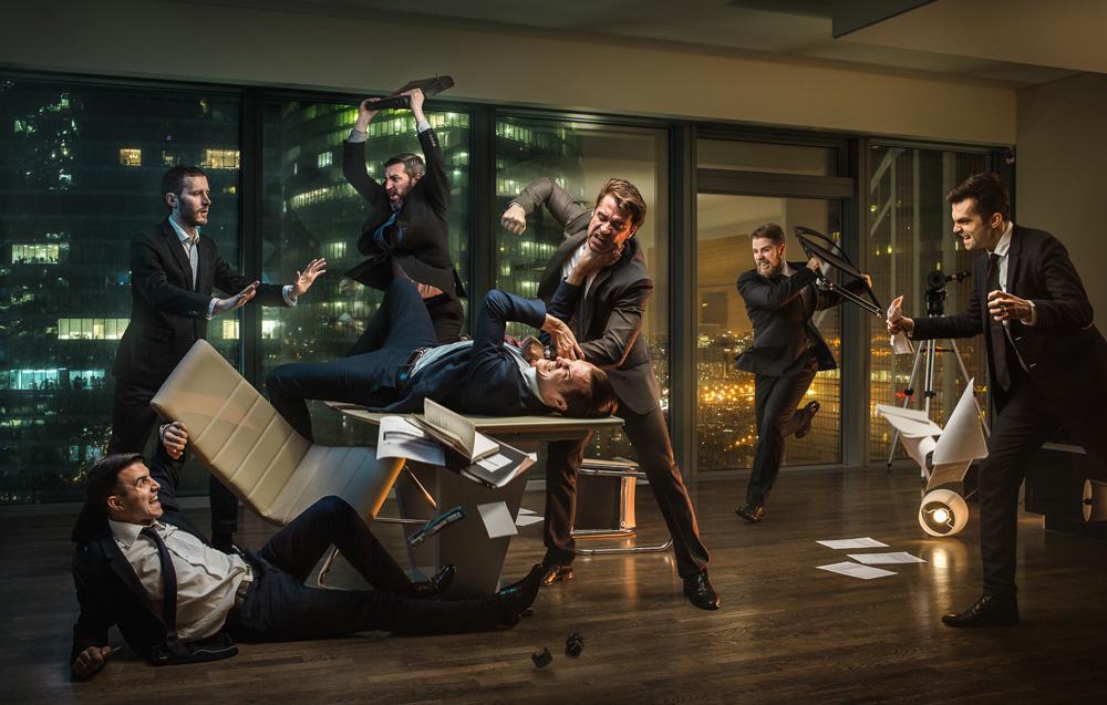 Conflict in the boardroom por Ilya Nodia - Retoque digital