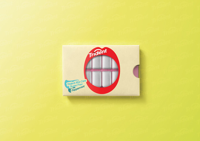 Packaging - Chicles Trident por Hani Douaji