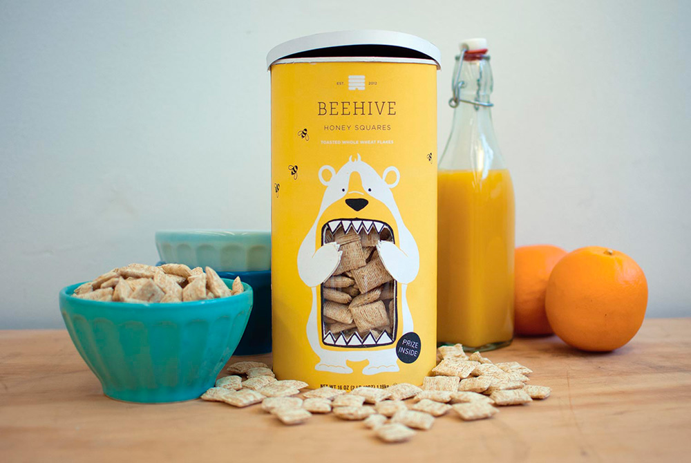 Packaging - Beehive Honey Squares por Lacy Kuhn