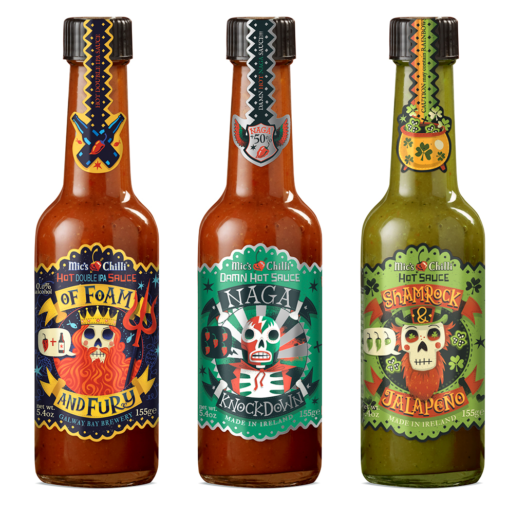 Mic's Chilli Packaging