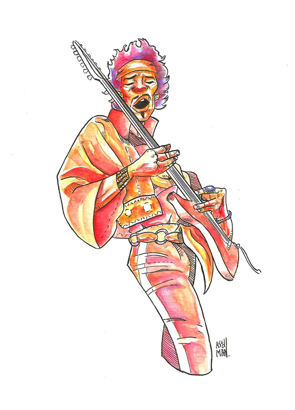 Hendrix por ASCDMAN