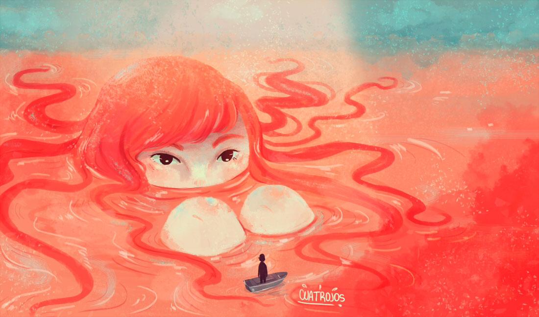 Ilustracion de Cuatrojosz - Ilustradores chilenos por 2Design Blog