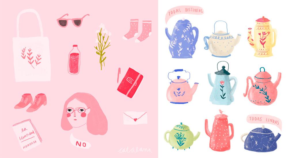 Ilustracion de Catalana - Ilustradores chilenos por 2Design Blog