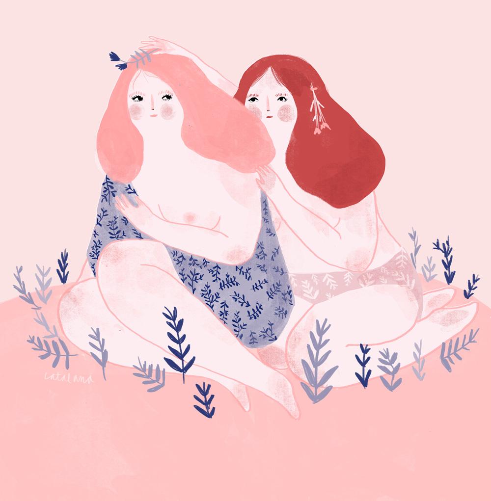 Ilustración de Catalana - Ilustradores chilenos por 2Design Blog