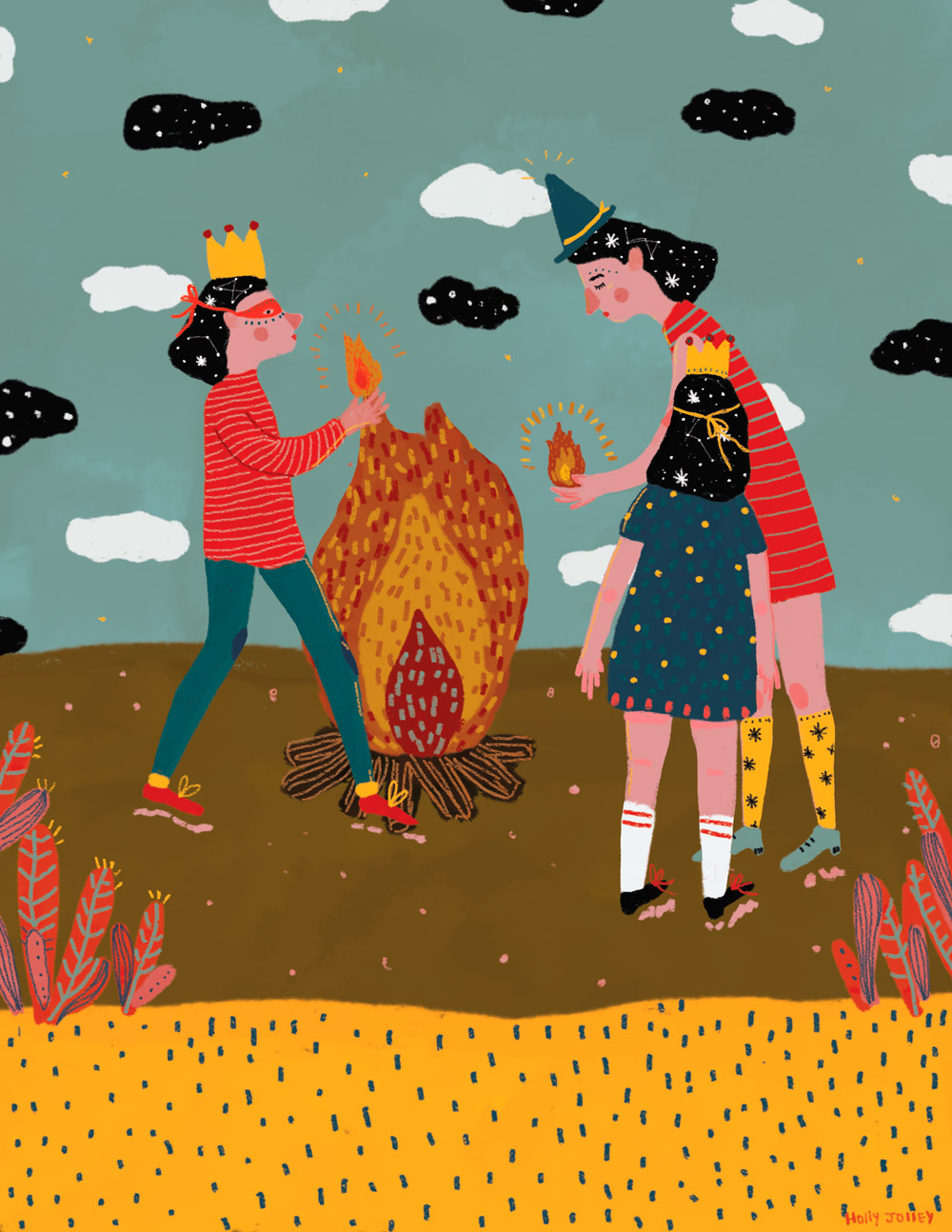 Ilustracion de Holly Jolley - Ilustradores chilenos por 2Design Blog