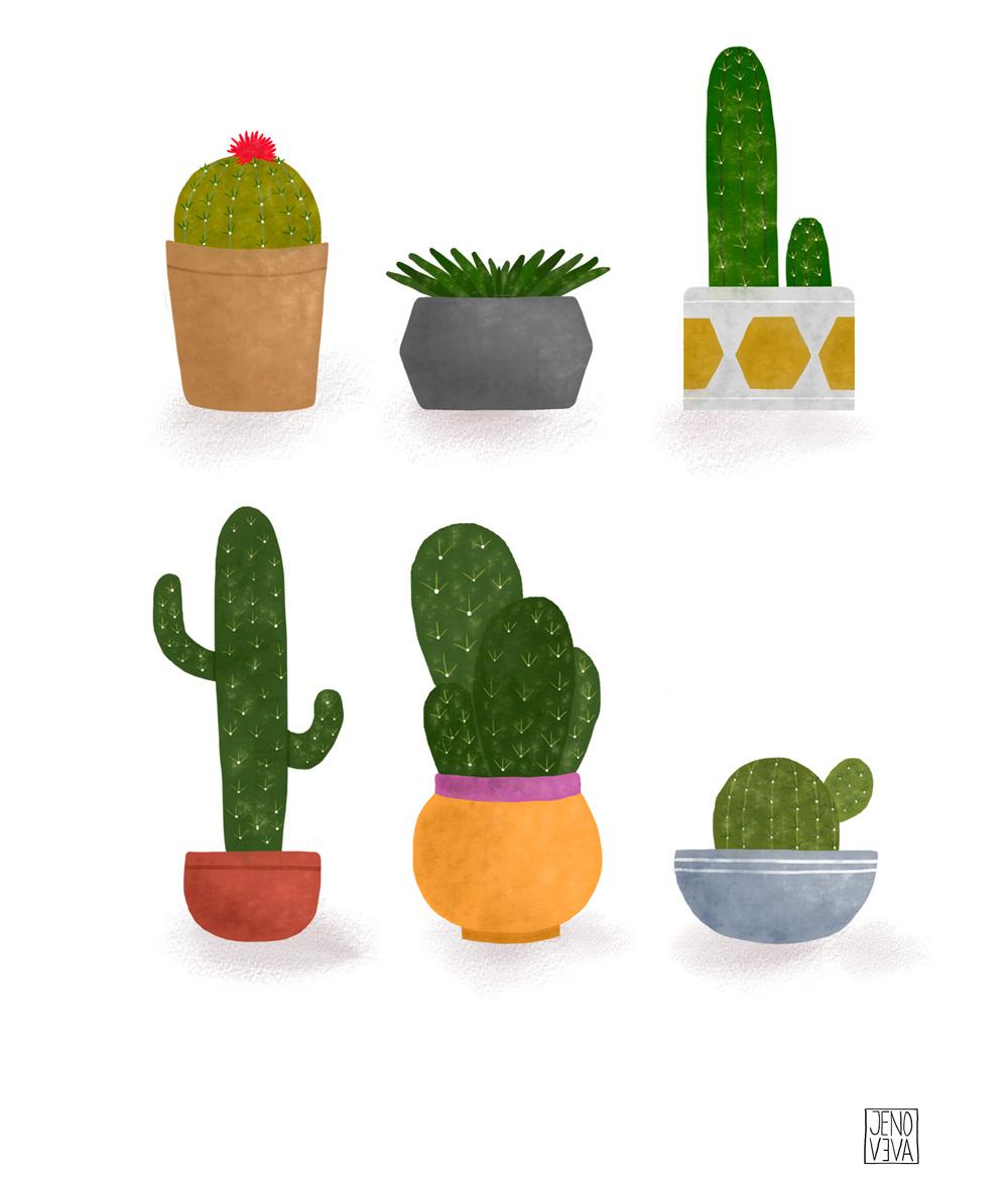 Cactus por Jenoveva Espinoza