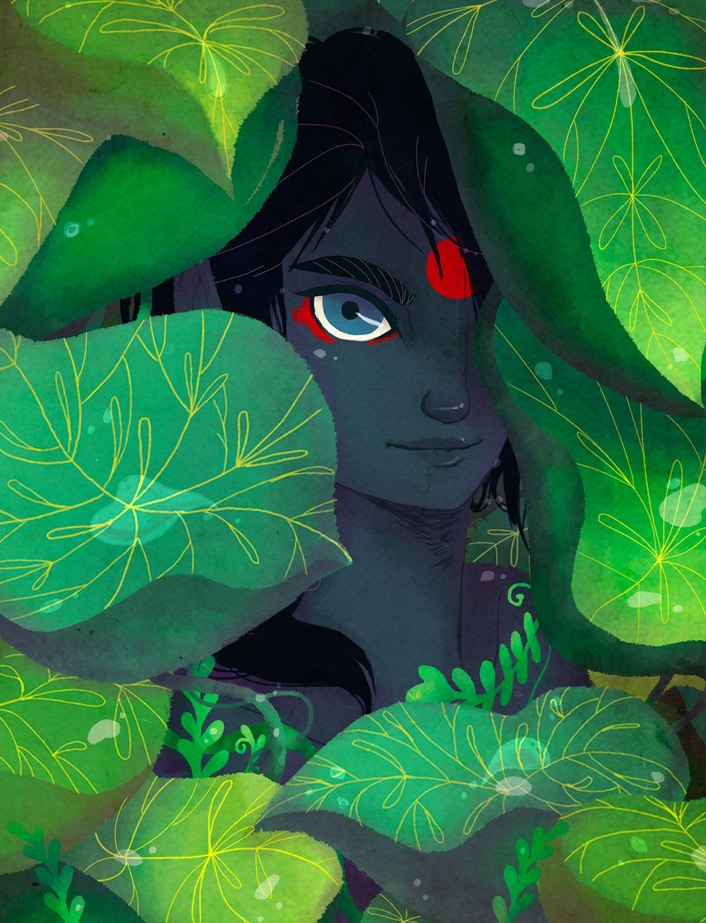 Entre las hojas, Danicornio