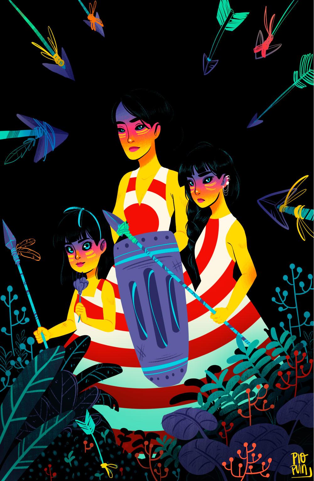 Ilustracion de Pio Pun - Ilustradores chilenos por 2Design Blog
