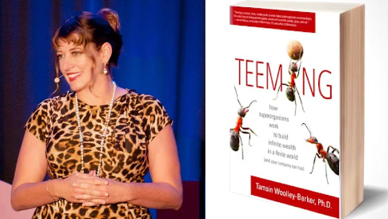 Dr. Tamsin with her book TEEMing