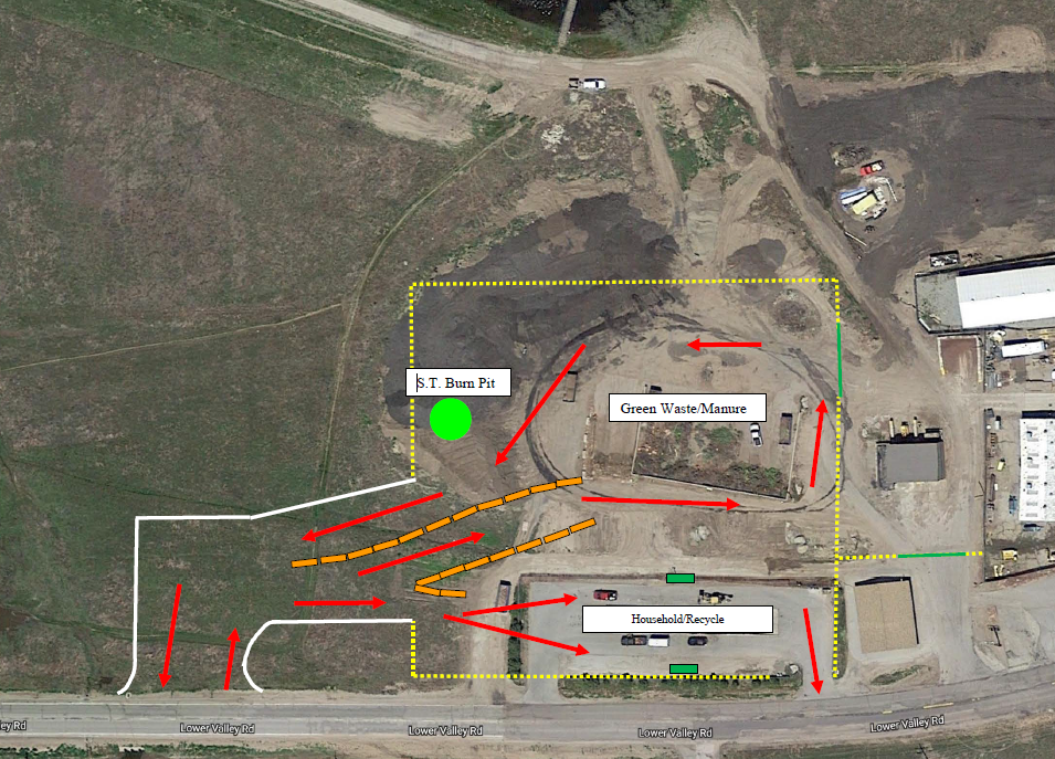 Map of the new transfer site layout