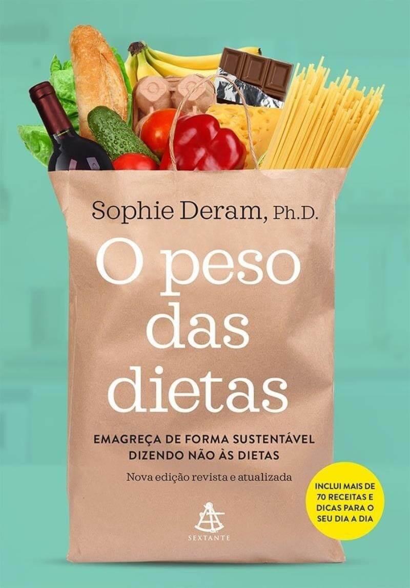 """Imagem da capa do Livro """"O peso das dietas"""" escrito por Sophie Deram."""