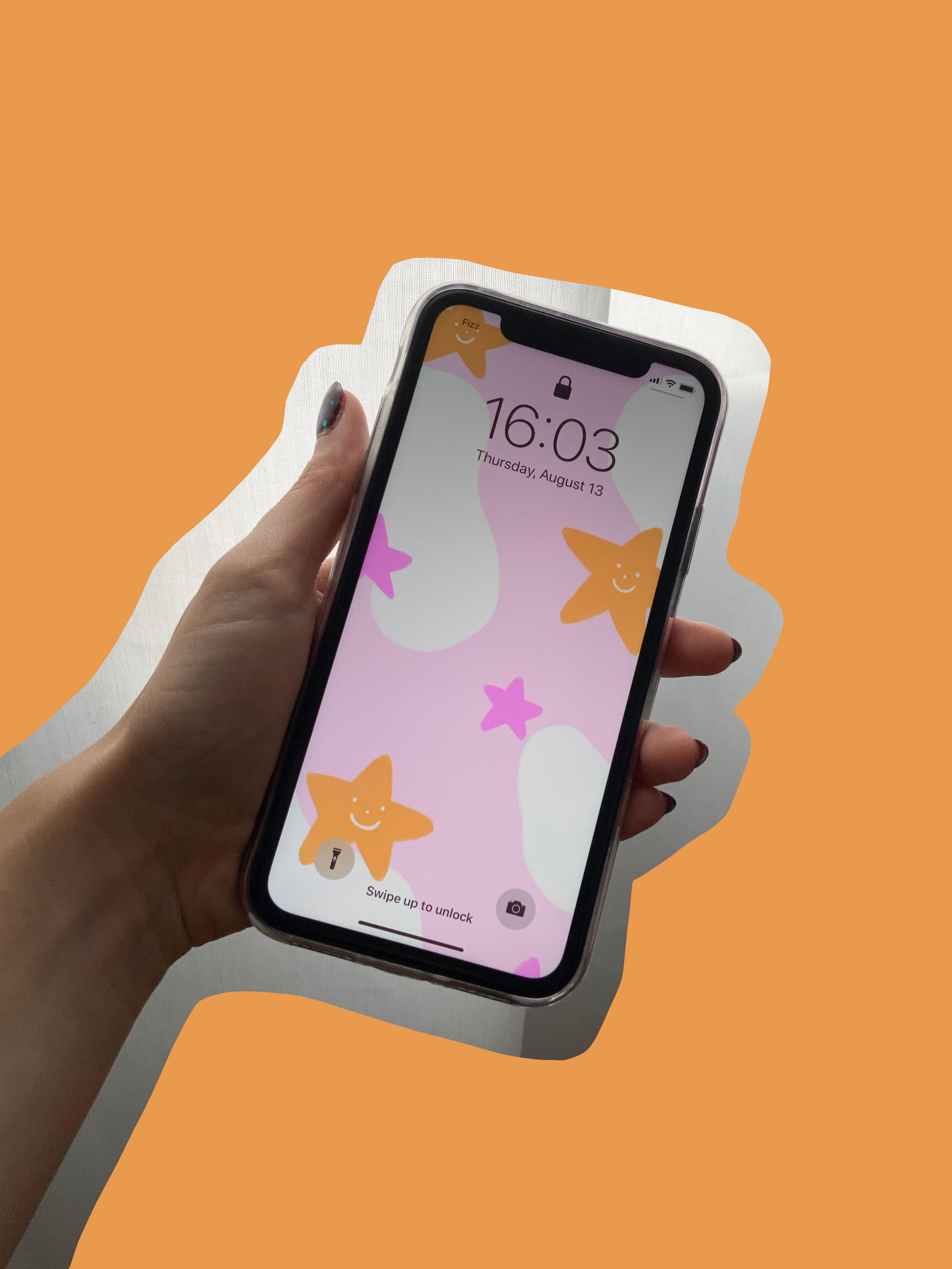Fond d'écran pour cellulaire étoilé — gratuit!
