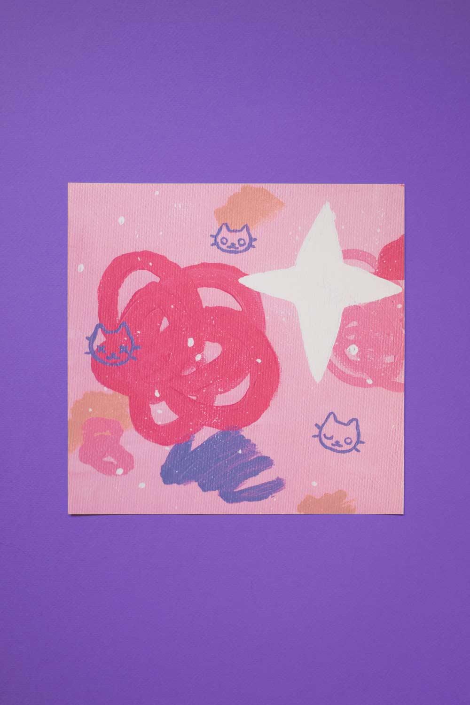 Cat explosion — print 8x8