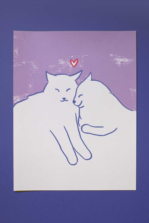 kitty luv — print 8x11