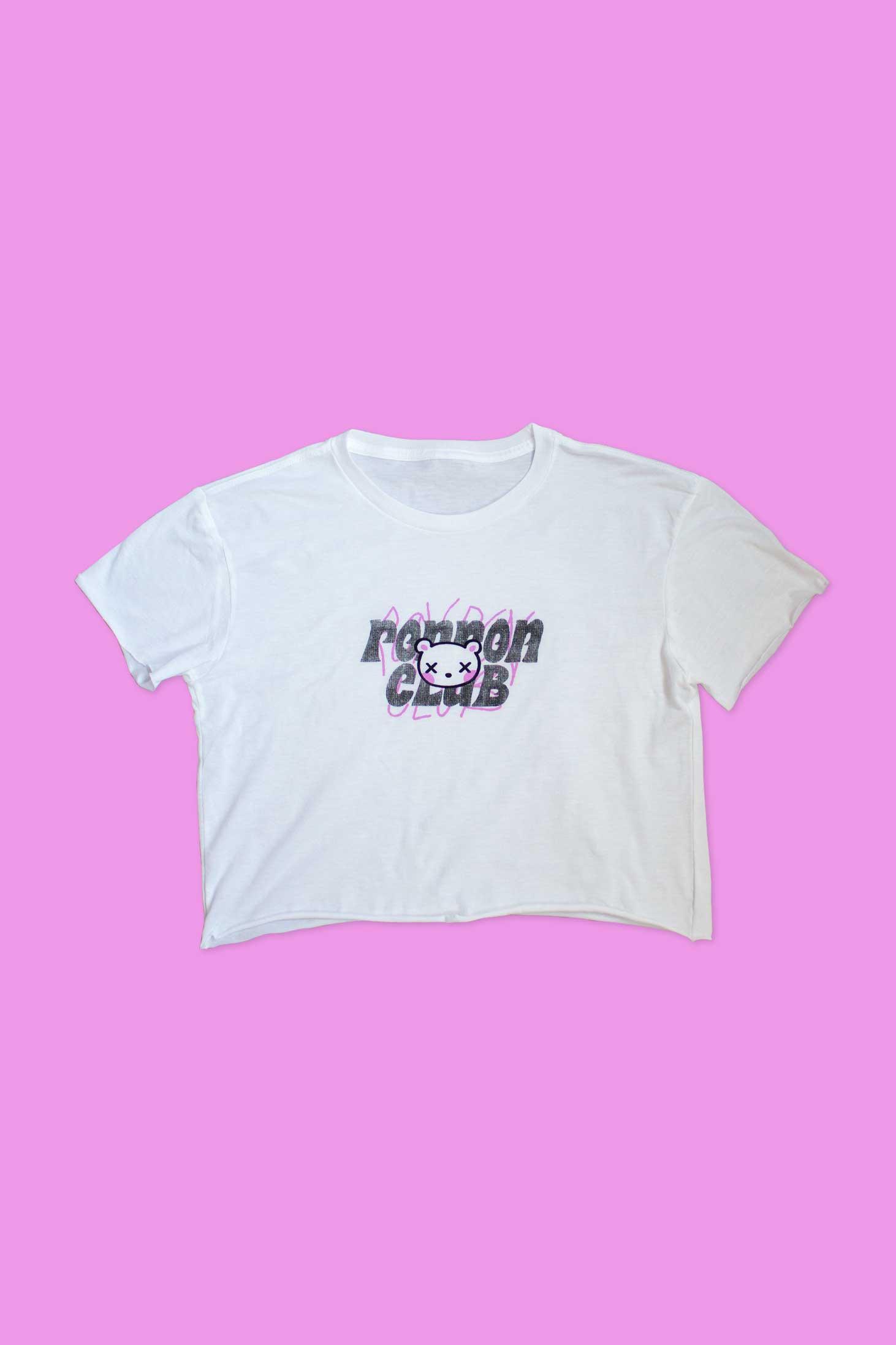 cropped t-shirt un peu emo