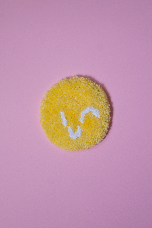 patch de mini tapis smiley jaune