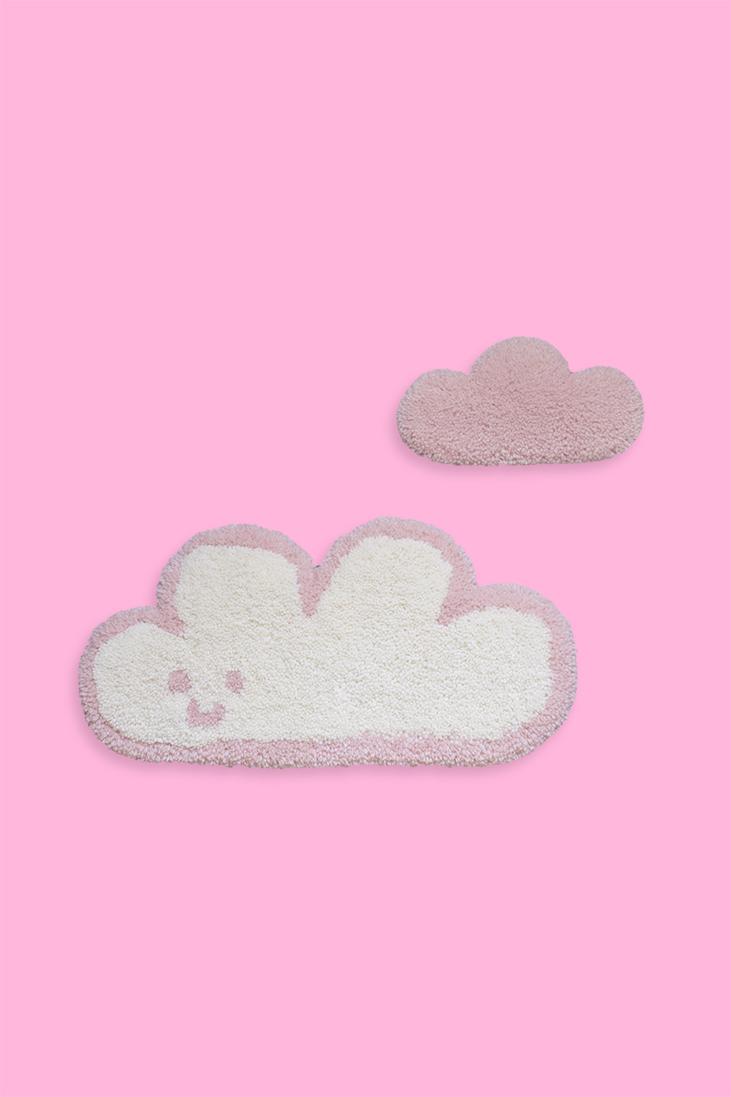 duo de tapis muraux nuages — rose