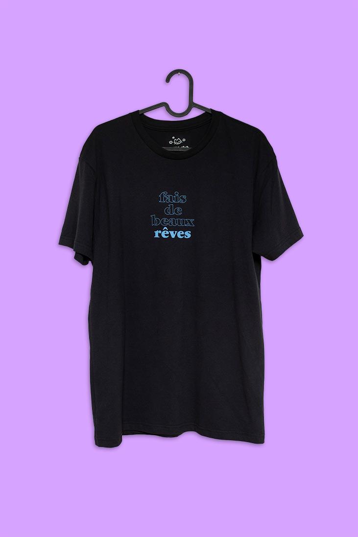 t-shirt rêveur version noire
