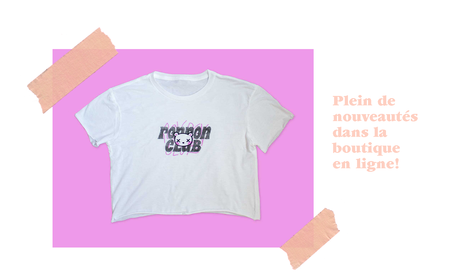 Picture of new cropped t-shirt ronron club emo
