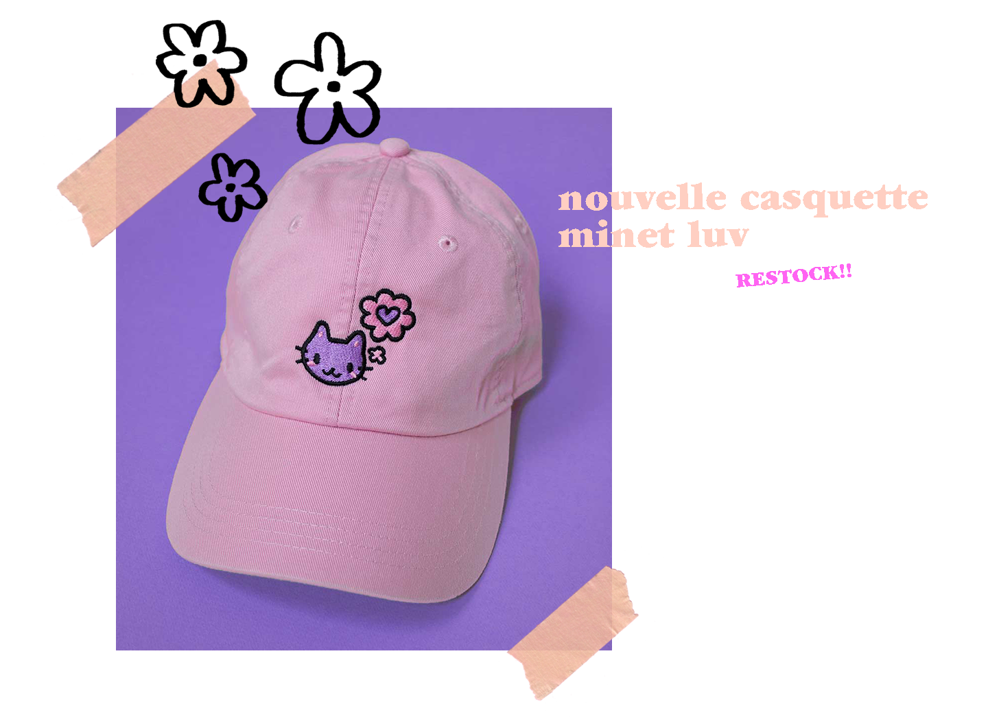 Picture of our minou luv pink cap