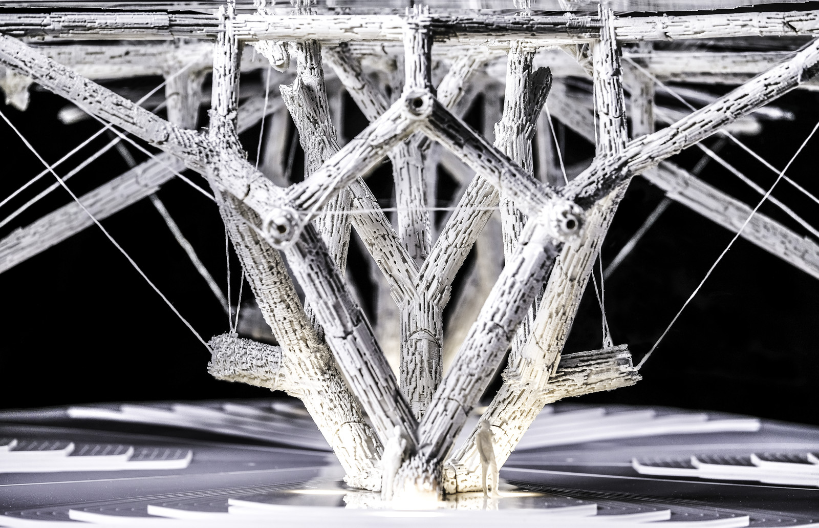 Photo showing STEREOTOMICÆQUILIBRIUM 3d printed model in Dubai Design District_AA-Visiting-School-Dubai-5_MEAL Middle East Architecture Lab