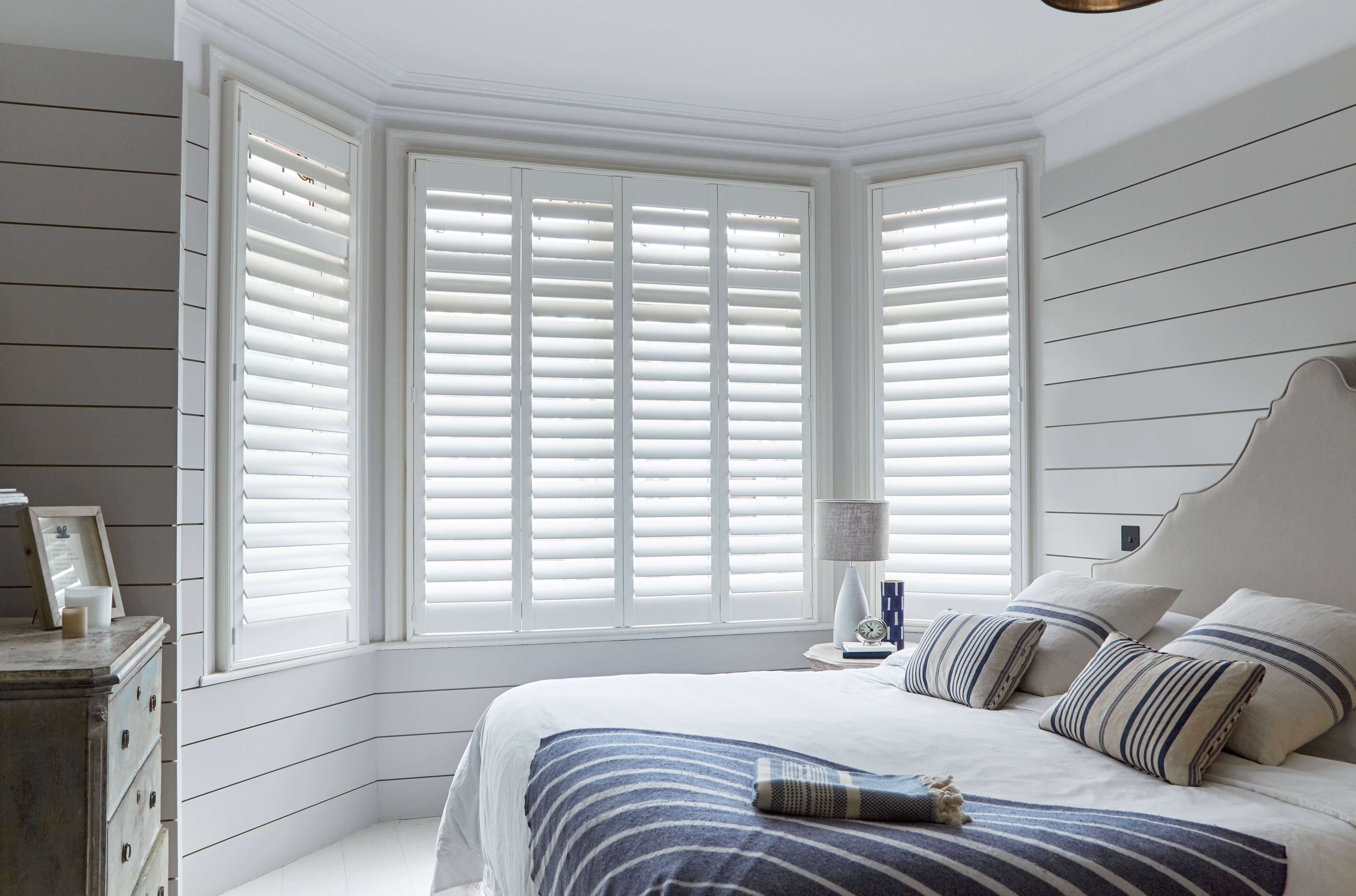 bright and airy shutters made from engineered wood
