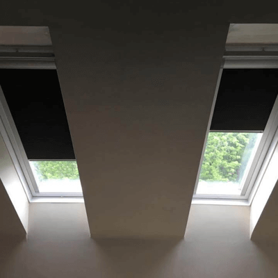 2 x custom made skylight blinds for old velux windows