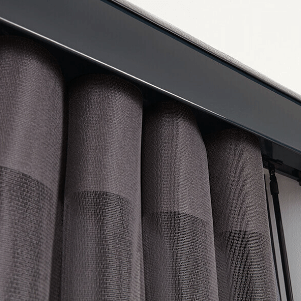 A closer look at the valance used with allusion blinds
