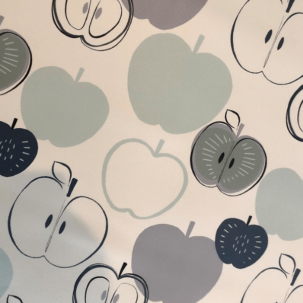 Example of a patterned blackout roller blind fabric
