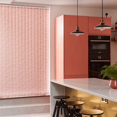 pink patterned vertical blind fabric
