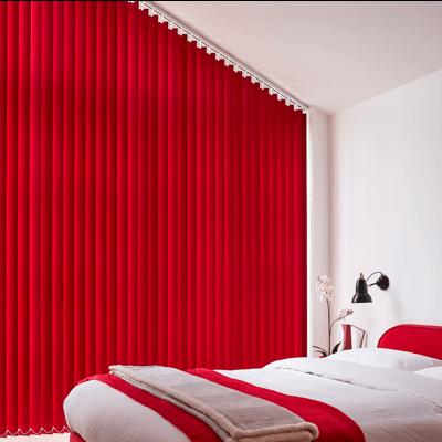 bright red vertical blind slats