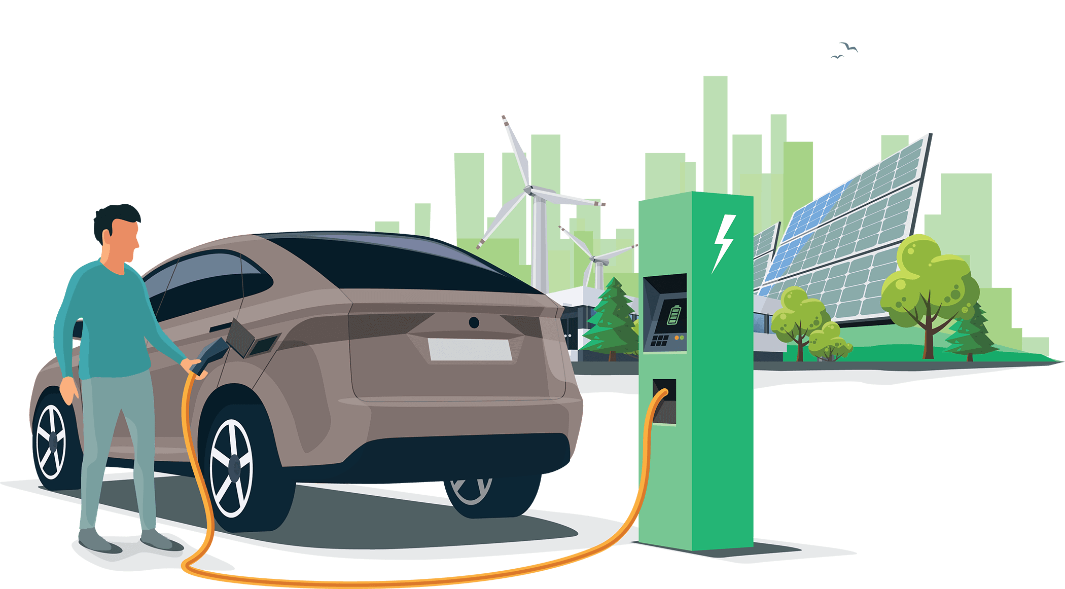 Electric Vehicle charging at gas station