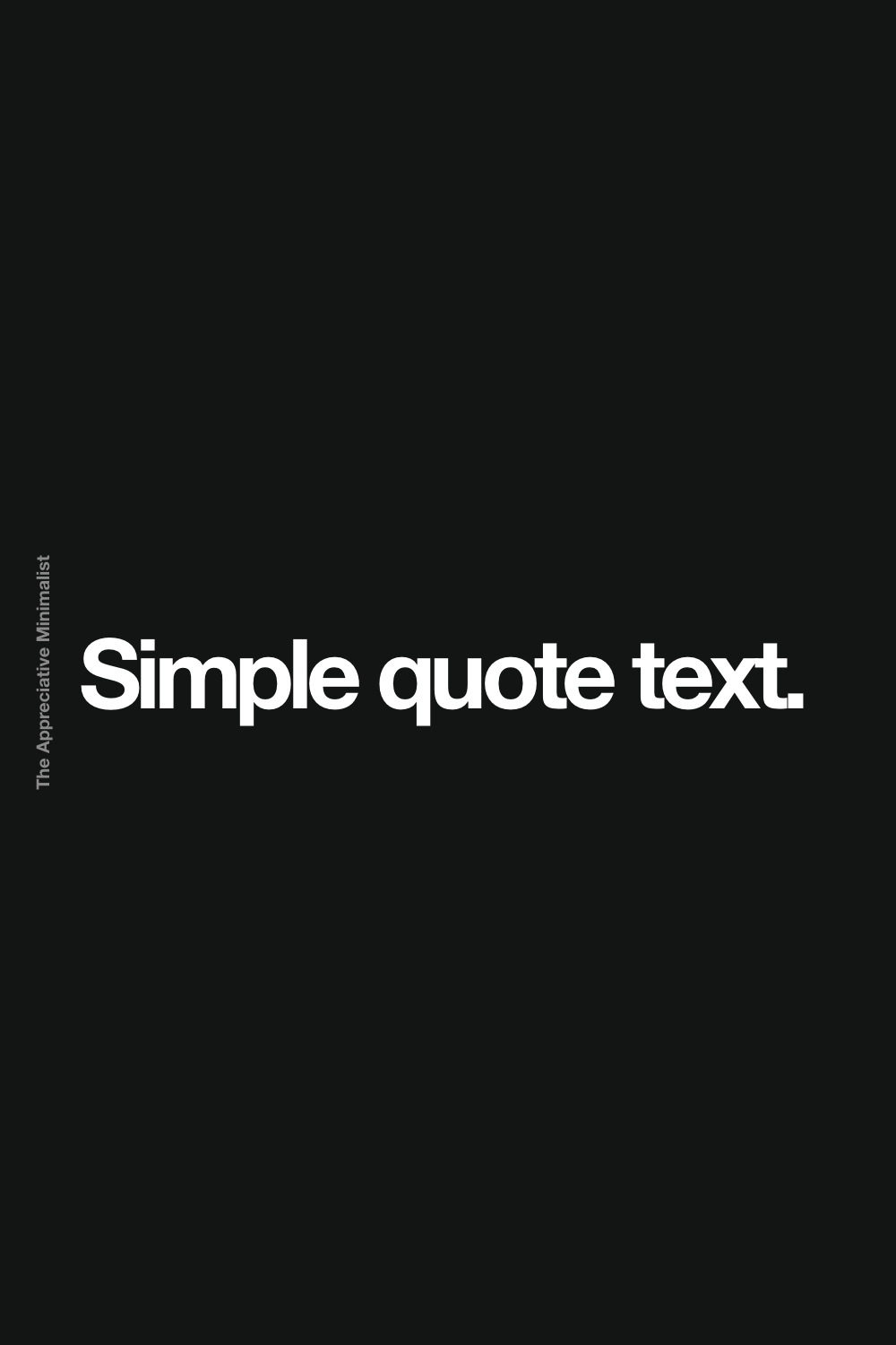 Simple quote text.