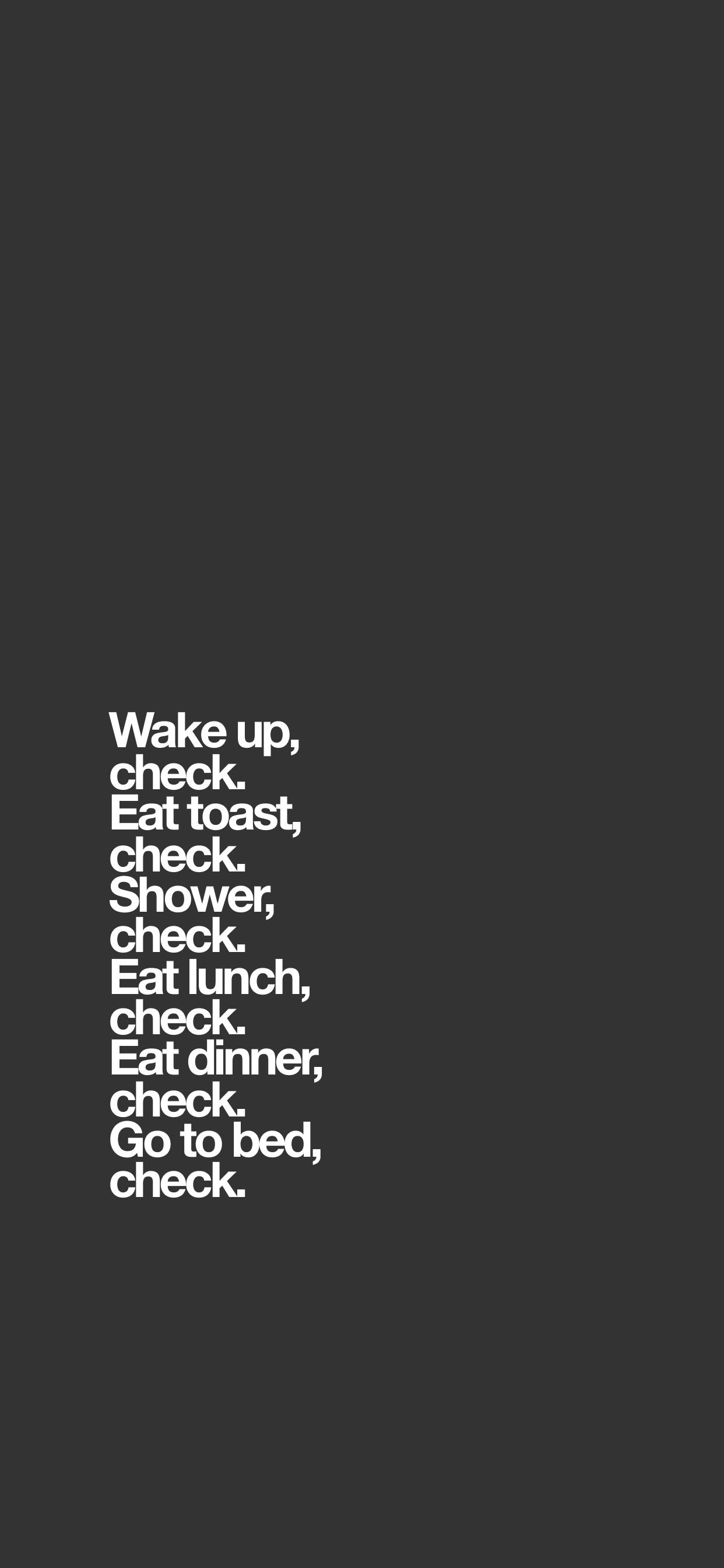 Wake Up Left Align