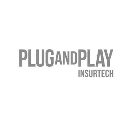 the logo for plug and play insurtech