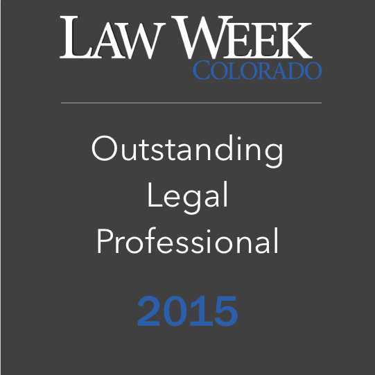 Law Week Colorado - Outstanding Legal Professional 2015