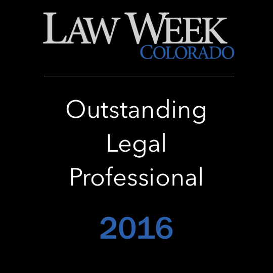 Law Week Colorado - Outstanding Legal Professional 2016