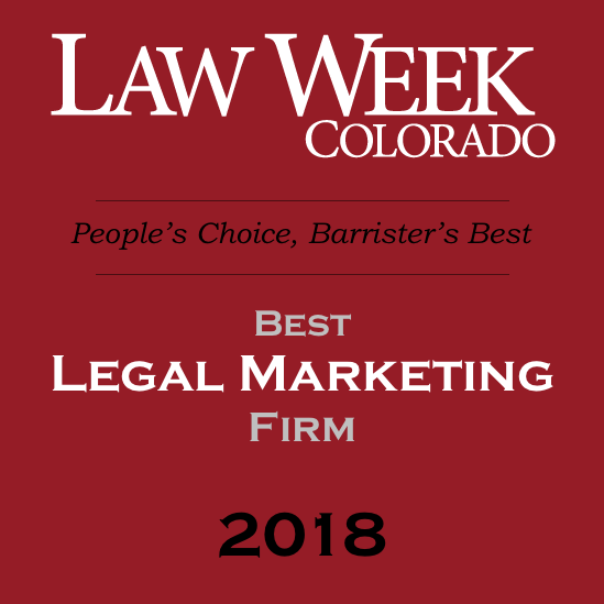 Law Week Colorado - Best Legal Marketing Firm 2018