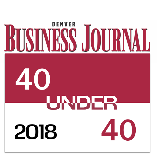 Denver Business Journal 40 under 40 - 2018