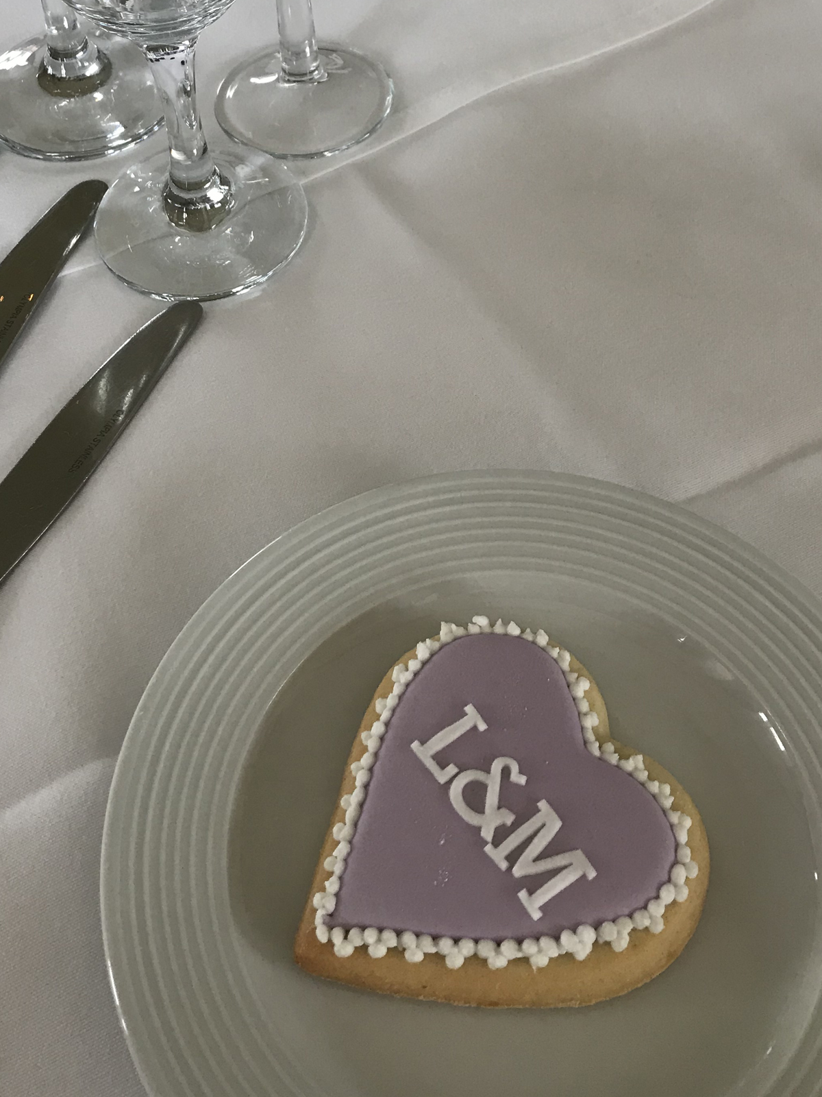 Initials Heart Wedding Cookie