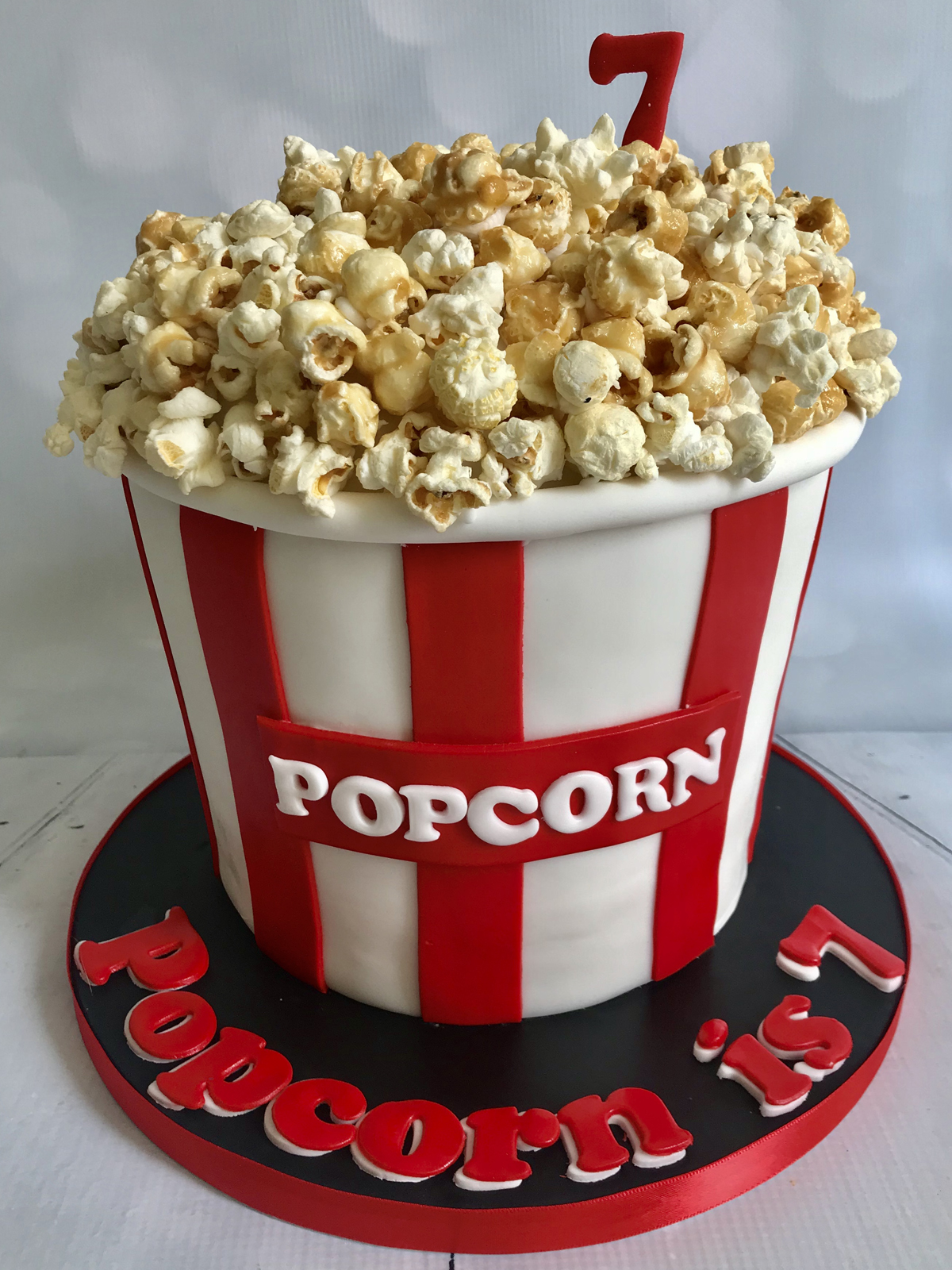 Fantastic Popcorn Bucket Birthday Cake Funny Birthday Cards Online Fluifree Goldxyz