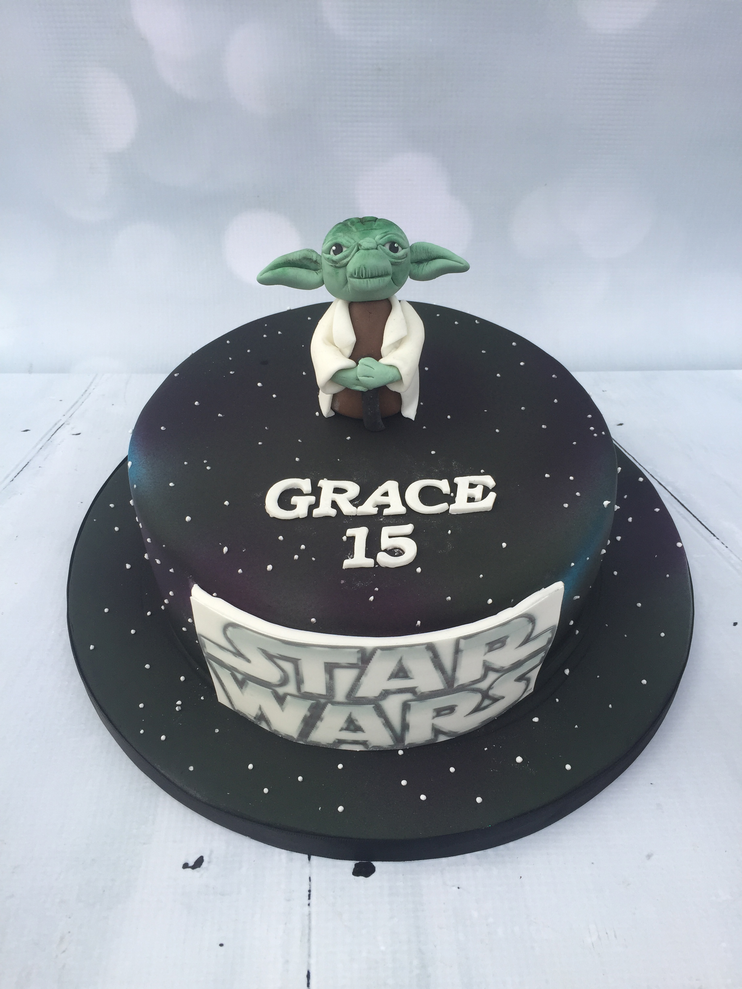 Swell Star Wars Inspired Birthday Cake Funny Birthday Cards Online Eattedamsfinfo