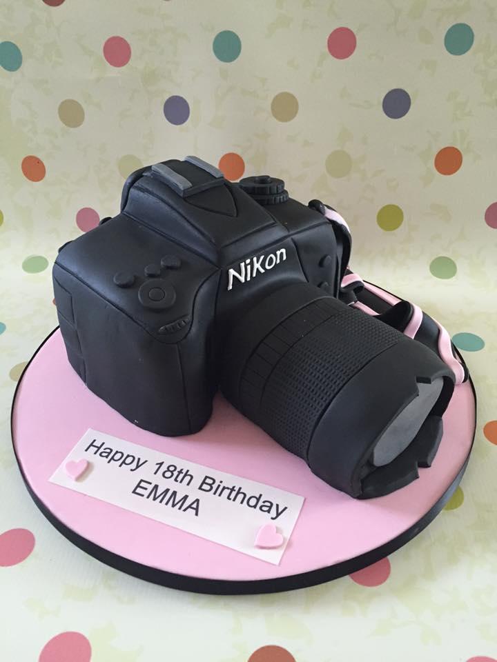 Wondrous Camera Cake Personalised Birthday Cards Vishlily Jamesorg