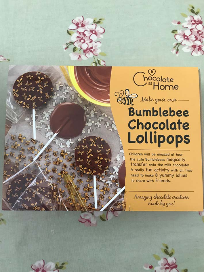 Fun video tutorial for making chocolate bumblebee lollipops